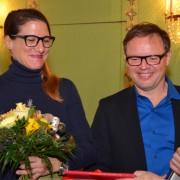 Preisträger Kurt Pelda mit Partnerin Frau Sophie Gräser